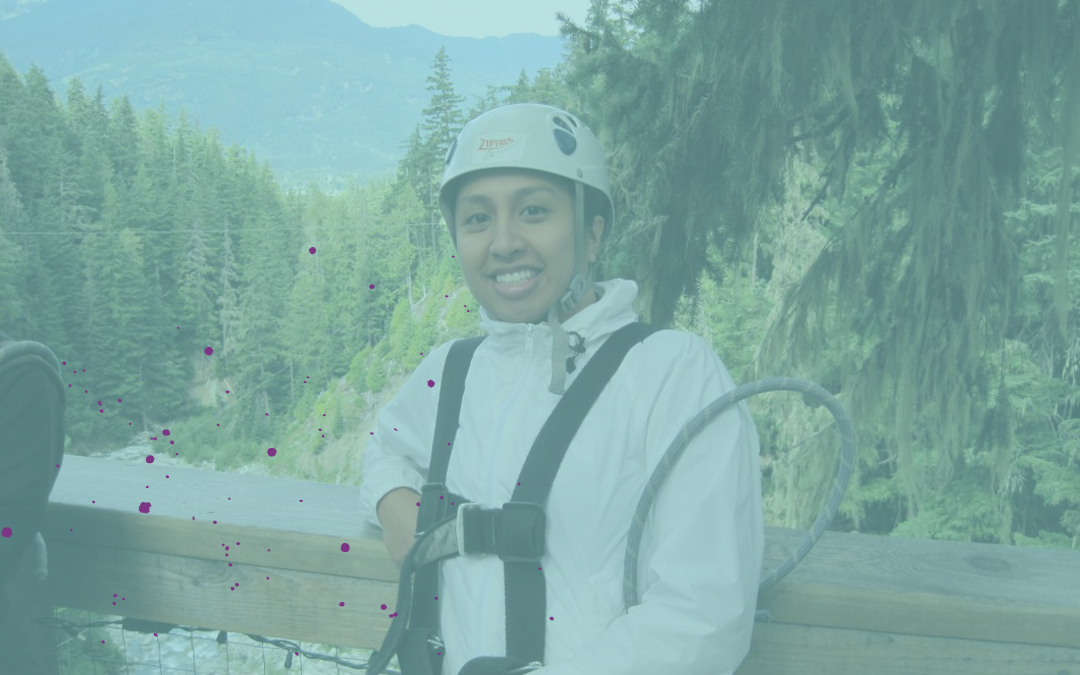 Ziptrekking above trees & creeks in Whistler