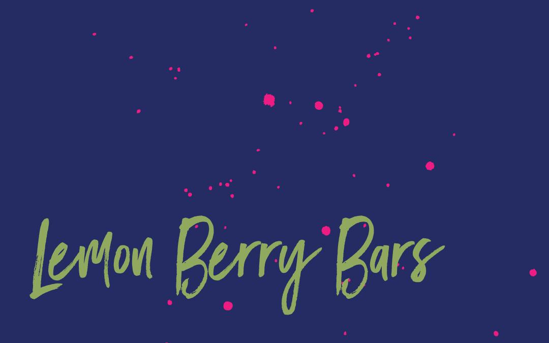 Vegan staples: Lemon berry bars