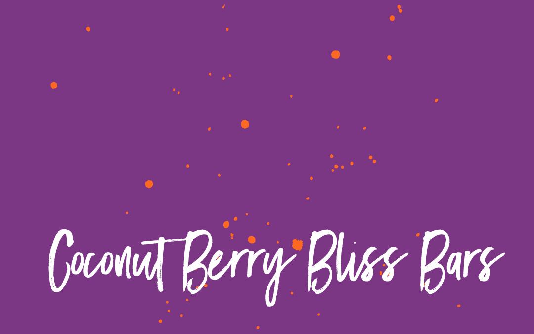 Vegan staples: Coconut Berry Bliss Bars