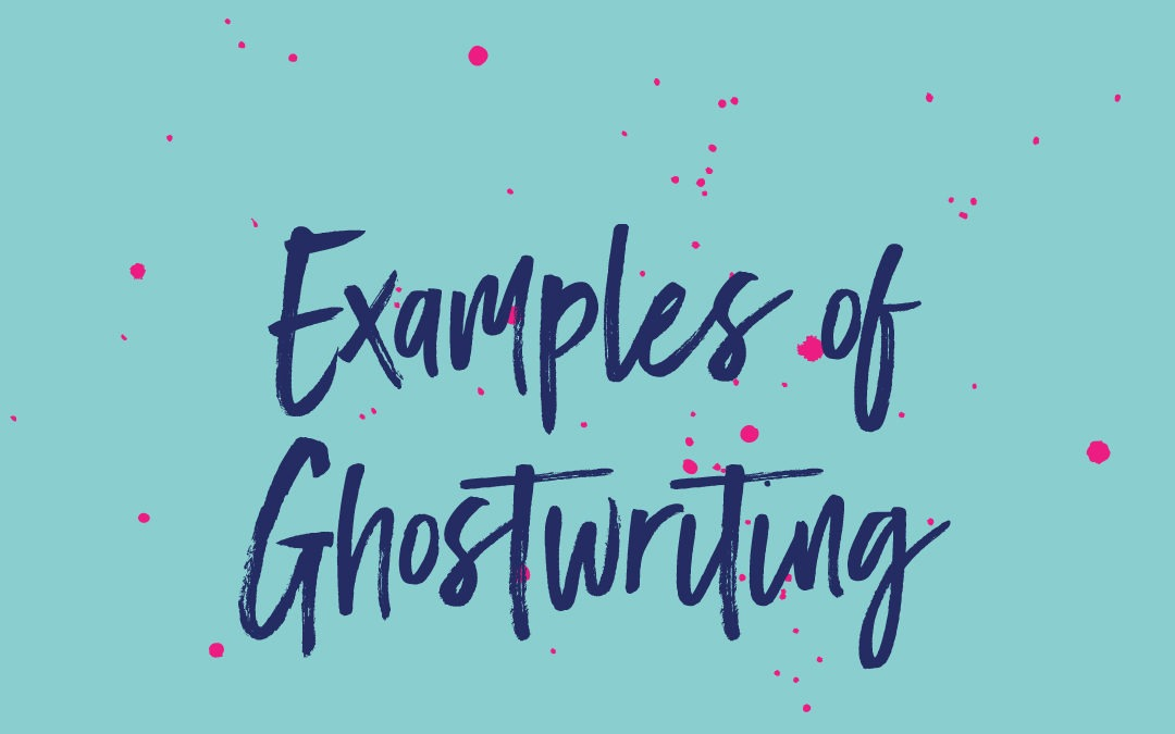 What my ghostwriting process is like